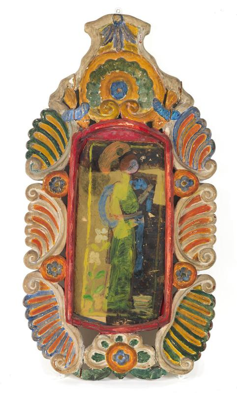 Painting on Glass (frame by Charles Prendergast)