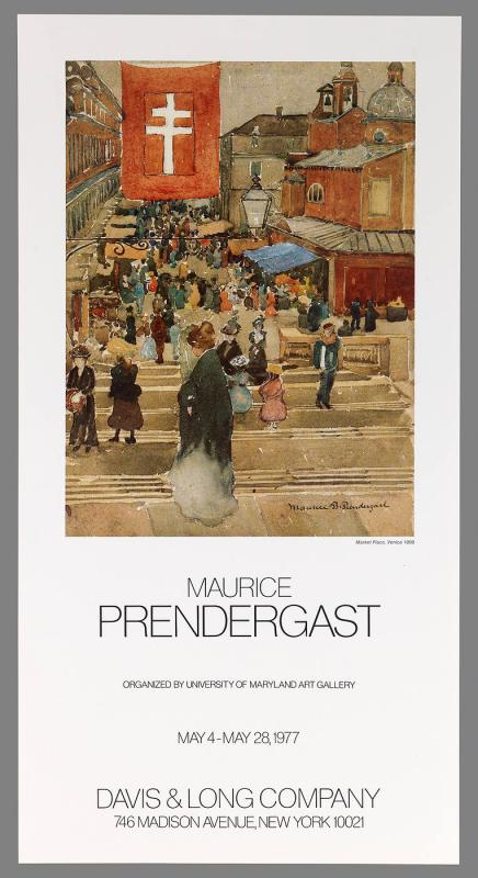 "Poster for Exhibition ""Maurice Prendergast"""