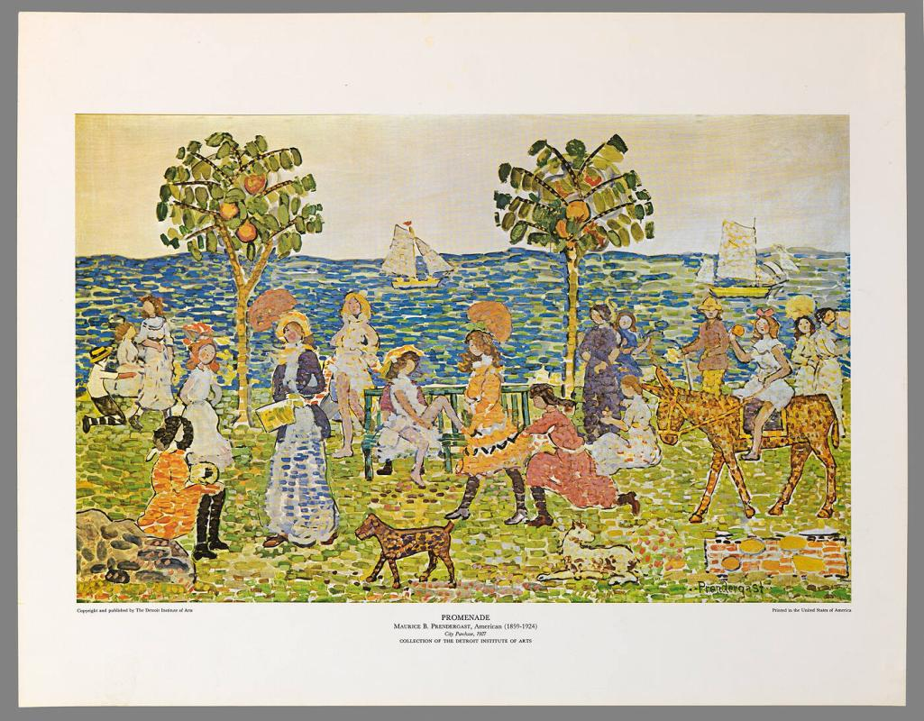 Poster of Promenade by Maurice B. Prendergast
