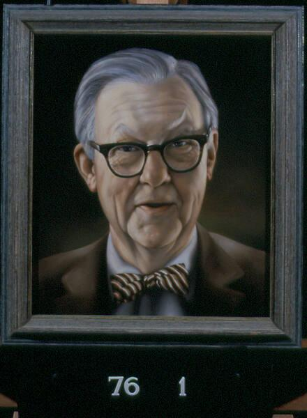 Portrait of Professor S. Lane Faison, Jr. (1907-2006), Class of 1929, Museum  Director 1948-1976, Chairman of Art Department 1940-1969