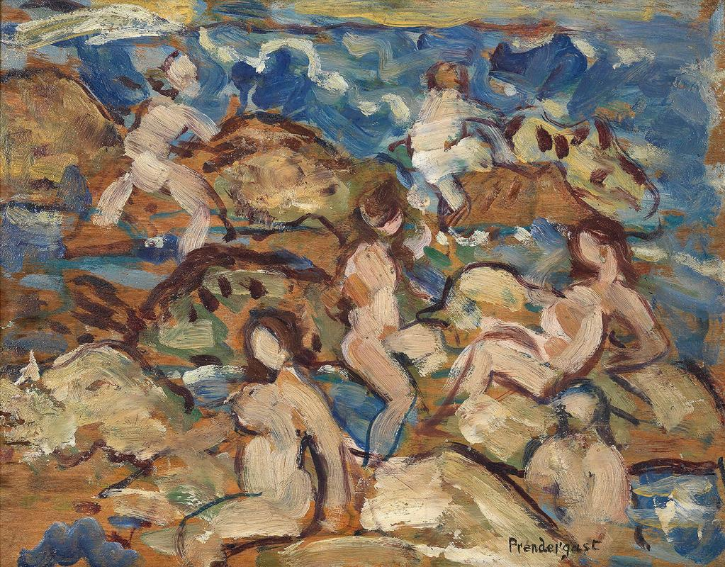 Bathers and Rocks