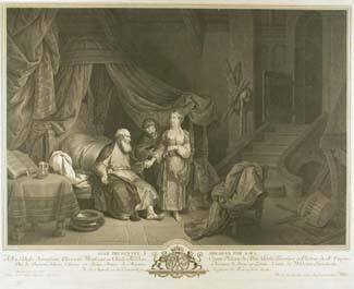 Hagar presented to Abraham by Sara