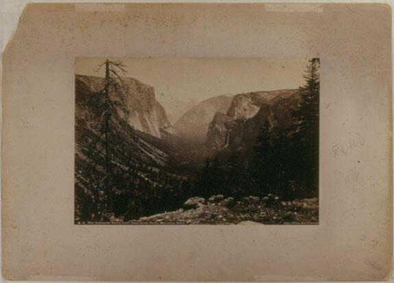 The Yosemite Valley from Inspiration Point, Mariposa Road