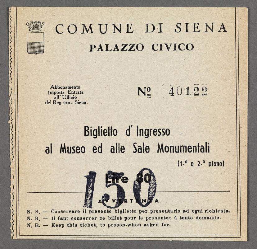 Town of Siena ticket to enter museum and monuments