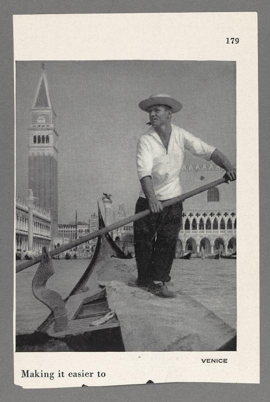 Photograph of gondolier in Venice