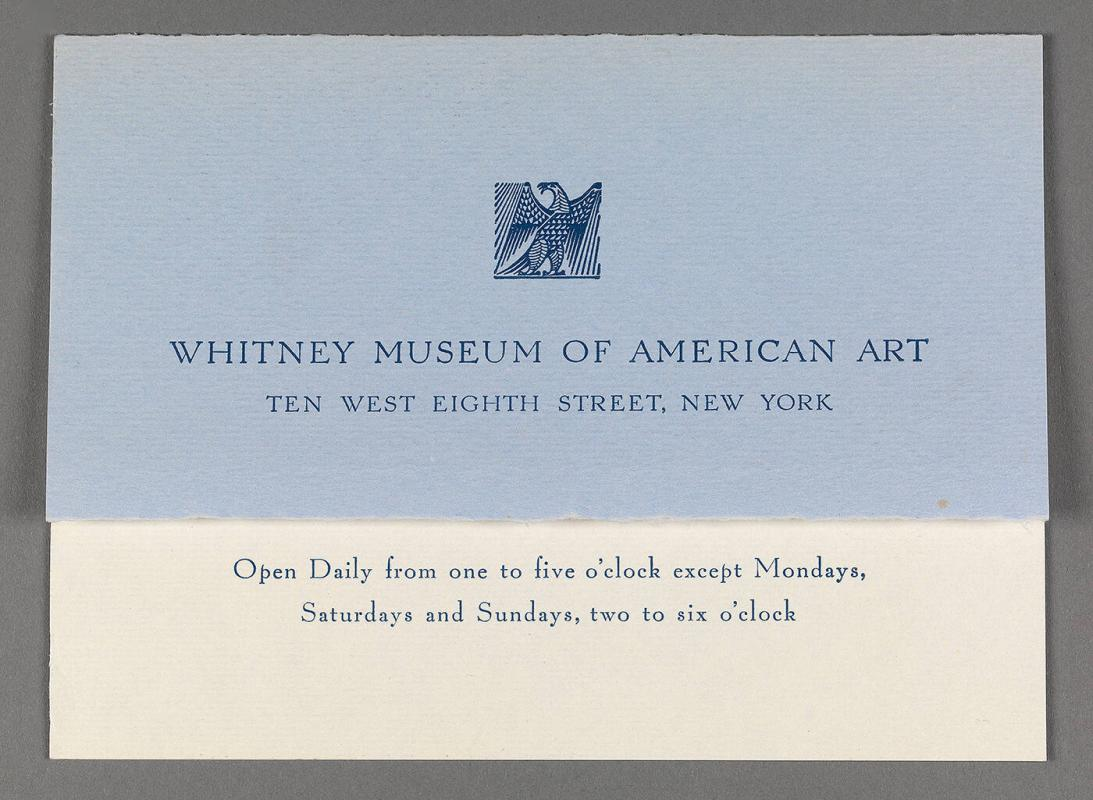 "Whitney Museum of American Art announcement of ""A Memorial Exhibition of the Work of William J. Glackens"""