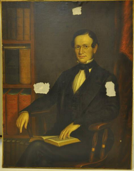 Portrait of John Tatlock (1808-1886), Class of 1836, Williams College Tutor 1836-38, Professor 1838-67, Librarian 1845-56