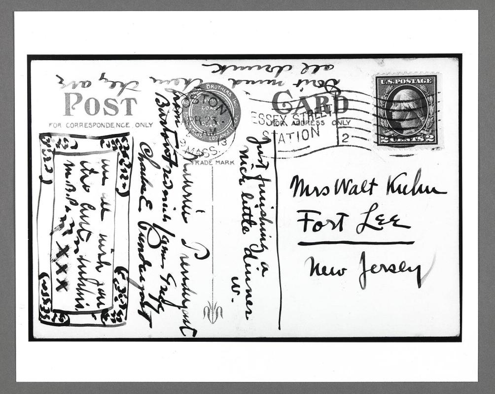 Postcard from Maurice Prendergast to Walter Kuhn