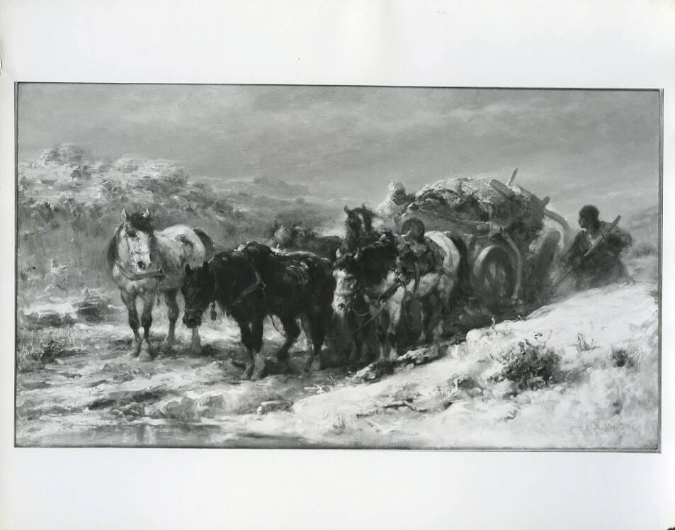 Russian Peasants with Cart