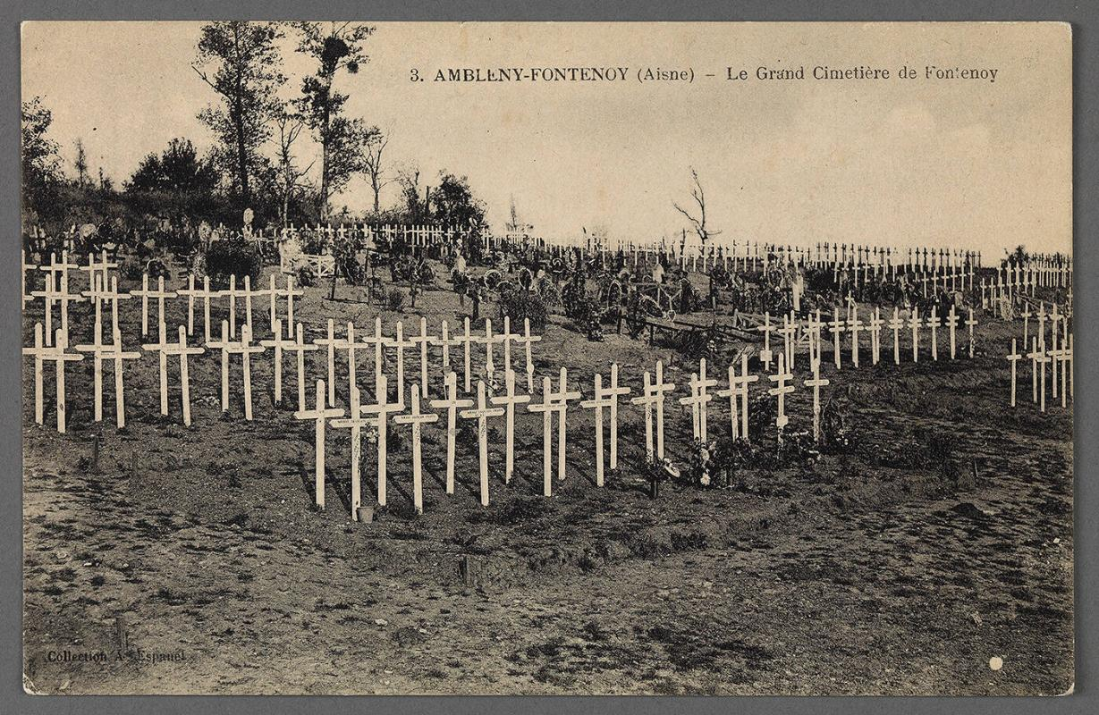 Postcards of Ambleny Cemetary, Bailleul, Outtersteene & Malo-les-Bains