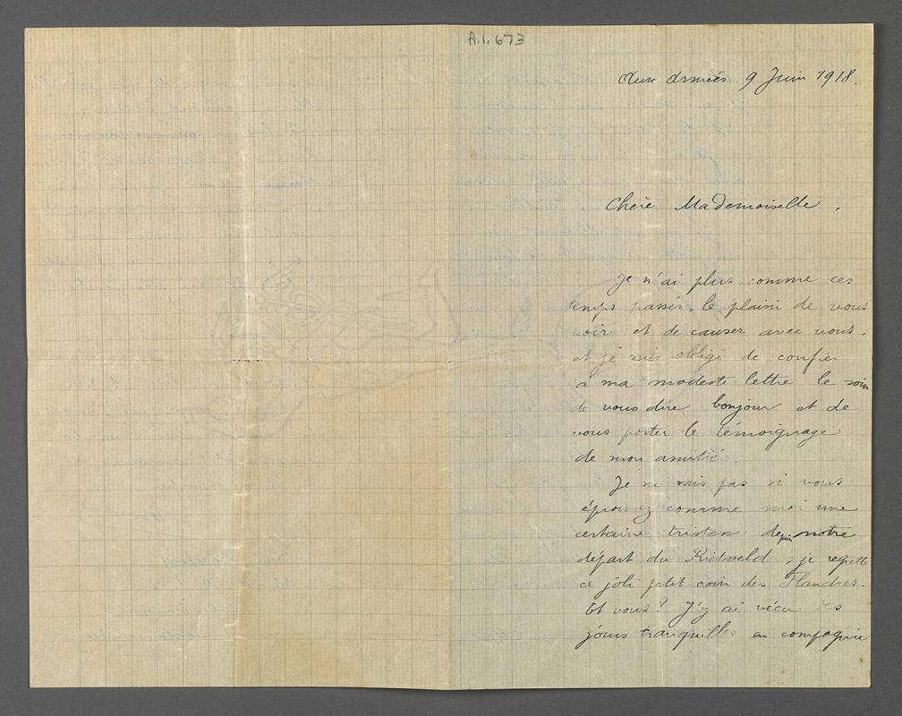Letter from Louis Bouchard to Eugénie Prendergast