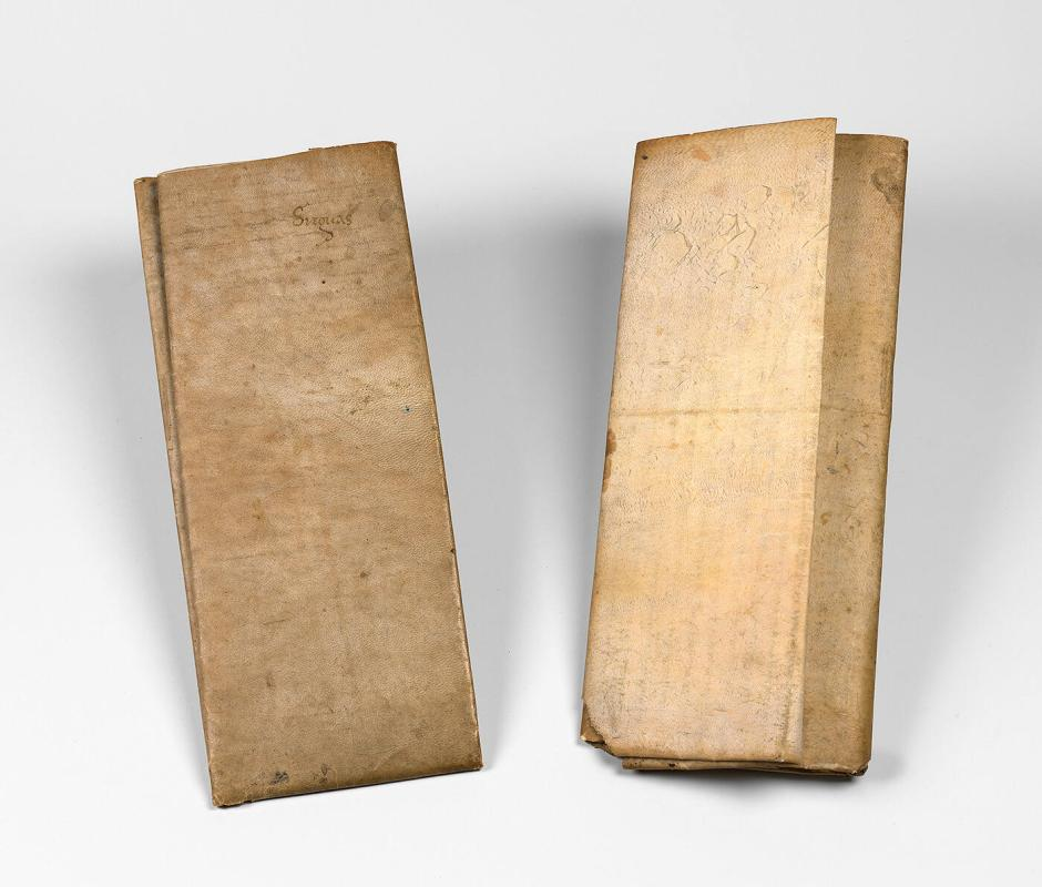 vellum sheet from an unknown manuscript