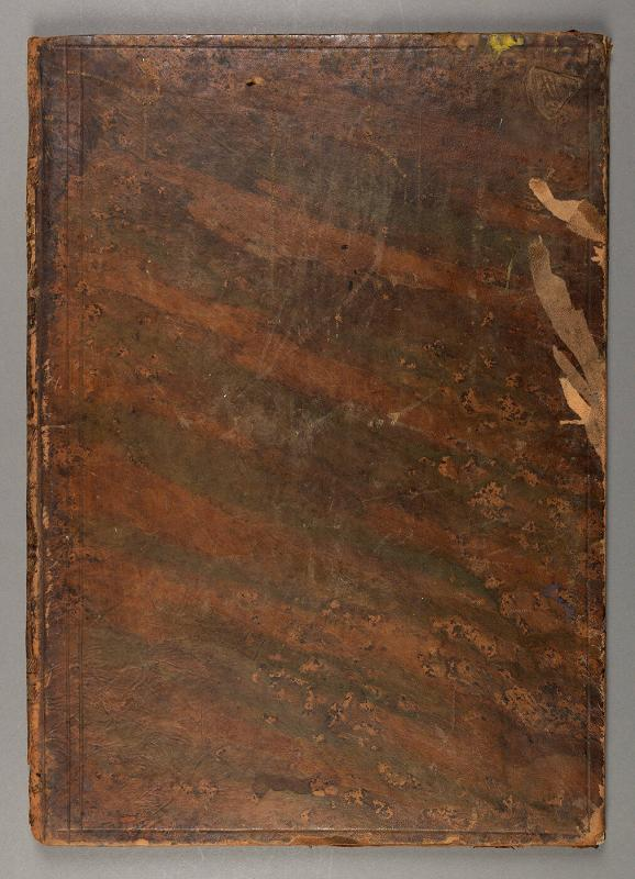 Binding of 18th century book of anatomical prints (pages removed)