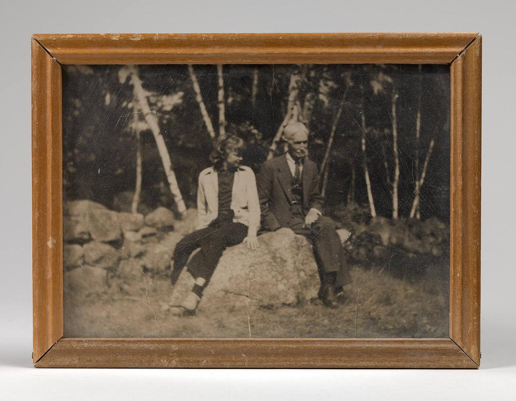 Framed Photograph of Charles Prendergast and Lenna Glackens (William Glackens daughter) in North Conway New Hampshire