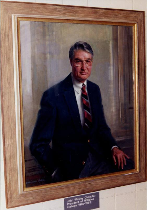 John Wesley Chandler, Twelth President of Williams College 1973-1985, Williams College Trustee 1969-73, Dean of Faculty 1966-67, Provost 1965-66, Professor 1955-65