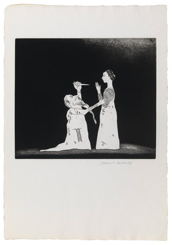"Old Rinkrank Threatens the Princess (from the series ""Six Fairy Tales from the Brothers Grimm"")"