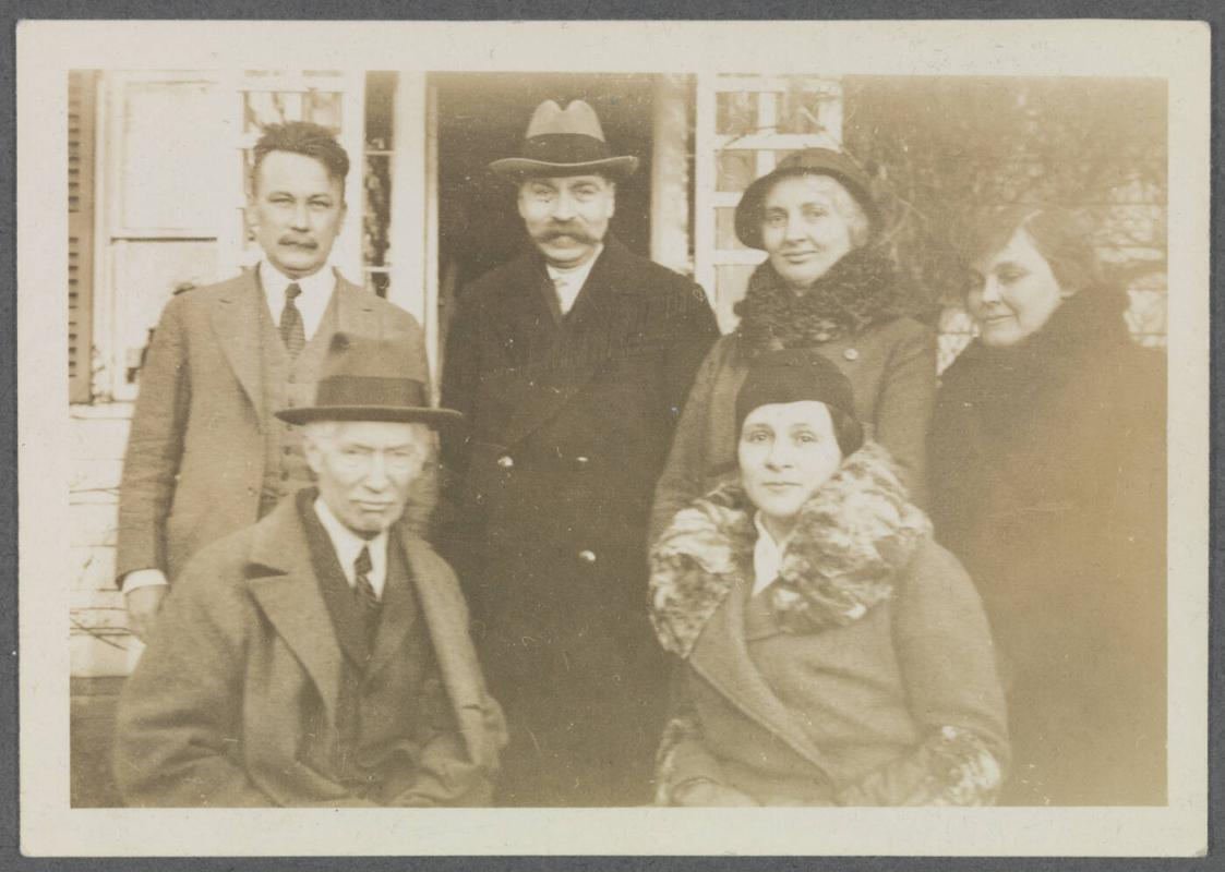 1930 series including Van Wyck Brooks, Walter Pach, Eugénie Prendergast, Gladys Brooks, Charles Prendergast, and Mrs. Pach