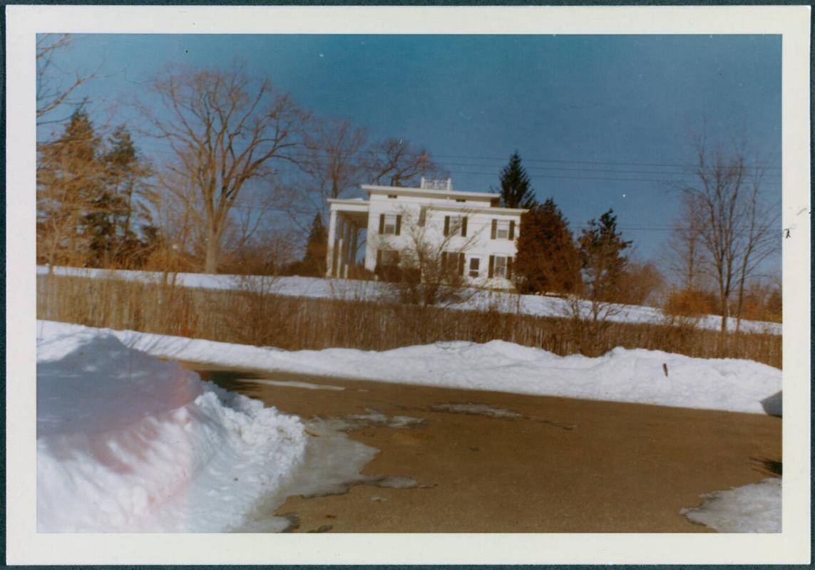 Gorham house at various times of the year; Winter