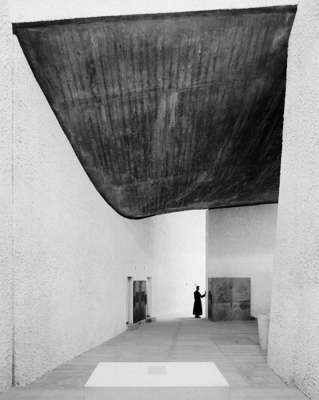 "Le Corbusier, Chapel at Ronchamp (from ""Modern Architecture: Photographs by Ezra Stoller, Palm Press, Inc."")"