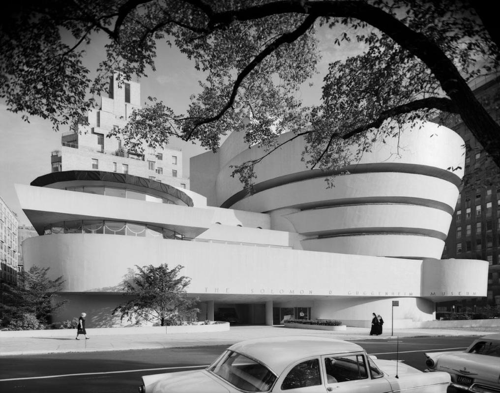 "Frank Lloyd Wright, Guggenehim with nuns (from ""Modern Architecture: Photographs by Ezra Stoller, Palm Press, Inc."")"