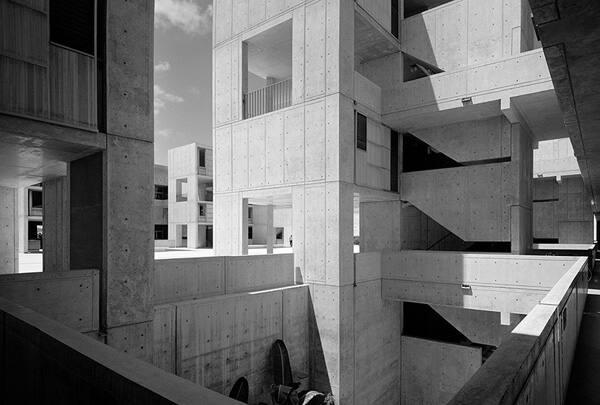 "Louis Kahn, Salk Institute (from ""Modern Architecture: Photographs by Ezra Stoller, Palm Press, Inc."")"