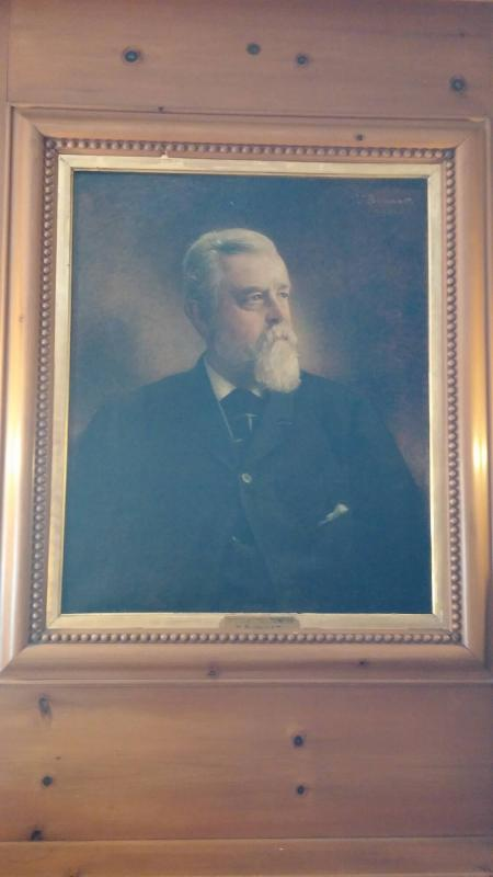 Portrait of Frederick F. Thompson (1836-1899), Class of 1856, Trustee 1886-1899, Benefactor