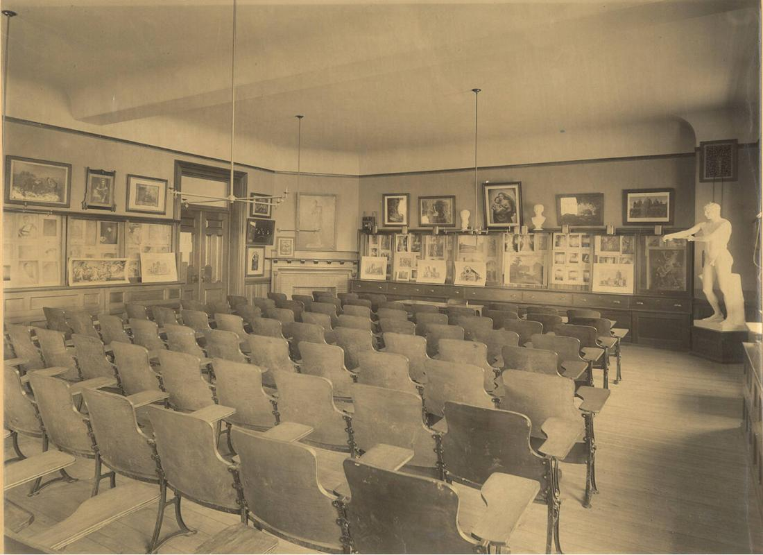 Interior of Hopkins Hall: Classroom for Historial Department Including History of Art