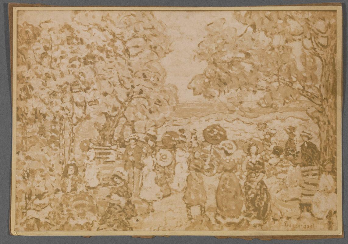 Unknown (Landscape with Figures) by Maurice Prendergast