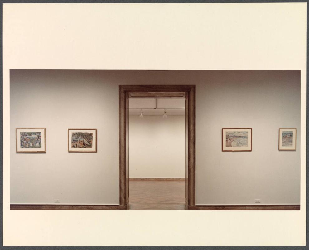 Photograph from Addison Exhibit of works by Maurice Prendergast