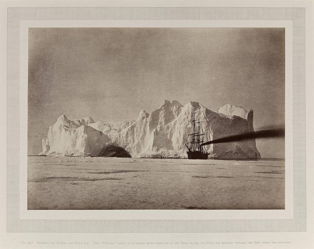 Between the Iceberg and Field Ice. From The Arctic Regions.