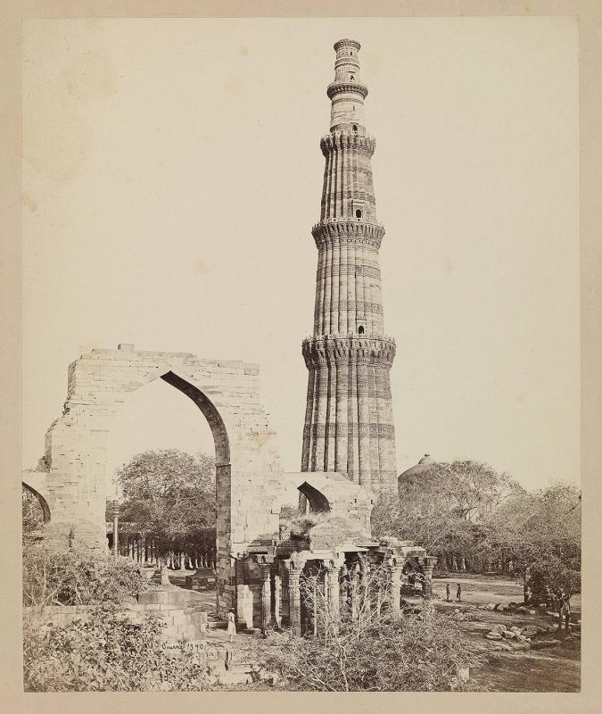 The Kutub [Qutb] Minar and Great Arch, Delhi