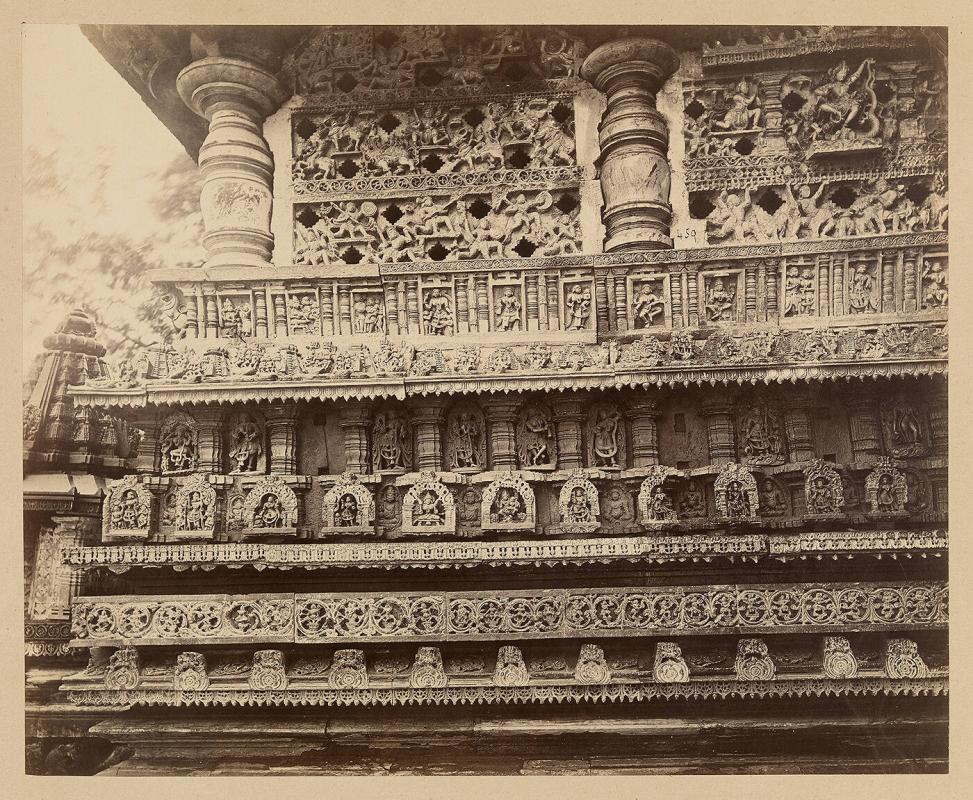 Views in Mysore: Bailoor Temple [Chennakeshava Temple, Belur]. The East Facade