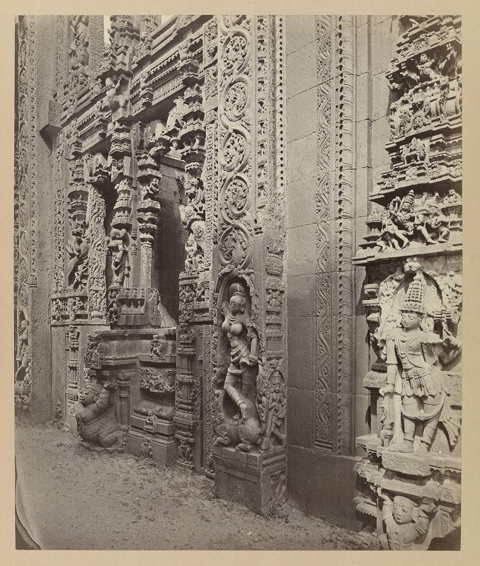 Tarputry [Tadpatri]: Temple in ruins near the river. Entrance to the temple on the north side.