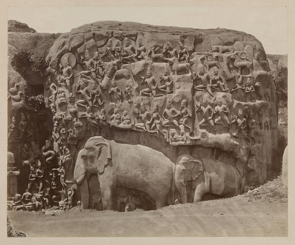 Mahavellipore, near Madras, Basso-relievo on face of granite rocks