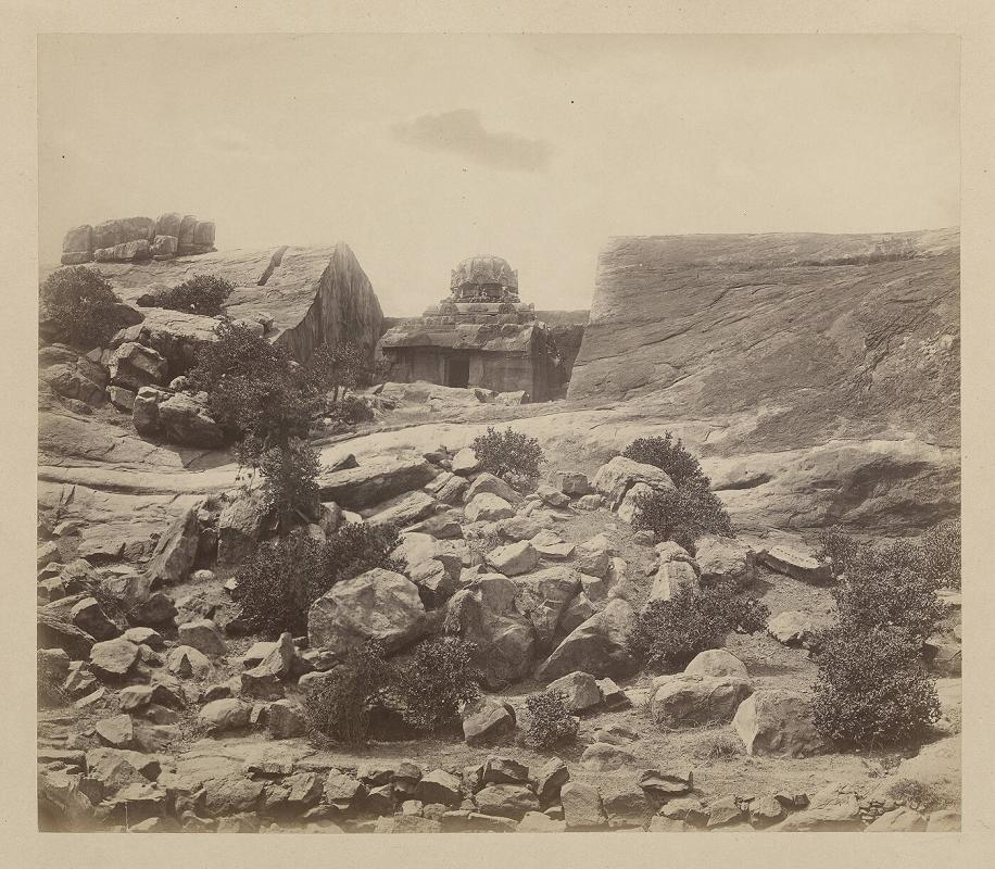 Kaloogoomulla [Kalugumalai], near Tinnevelly. General view of rock out of which temple is cut