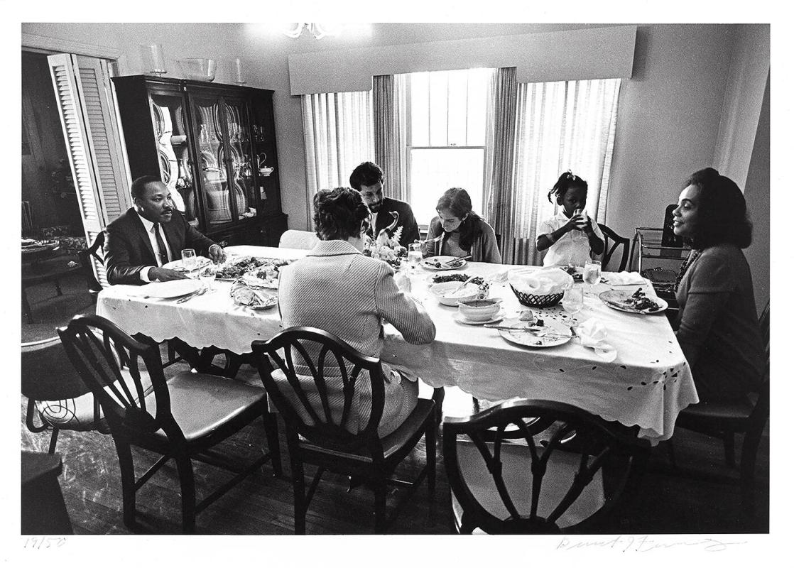 "Dr. Martin Luther King, Jr. enjoys lunch with his family after church in Atlanta (from ""Countdown to Eternity"")"