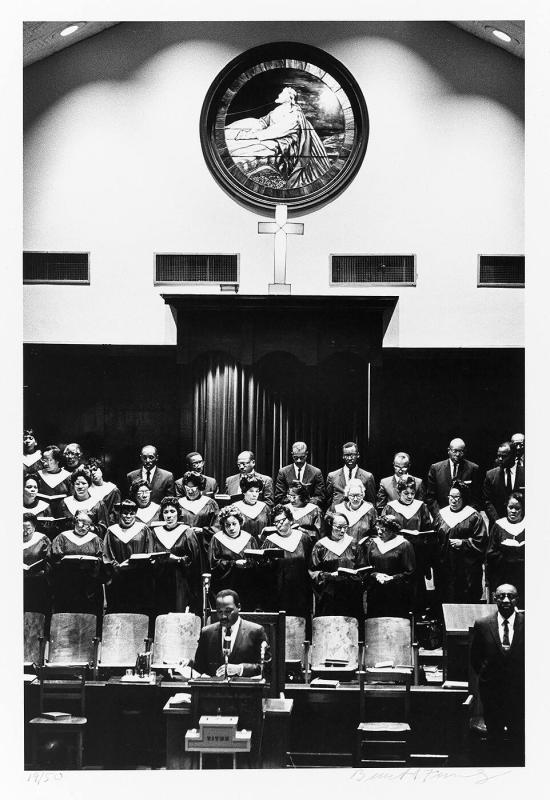 "Dr. Martin Luther King, Jr. at the pulpit of Ebenezer Baptist Church, Atlanta, November, 1967 (from ""Countdown to Eternity"")"
