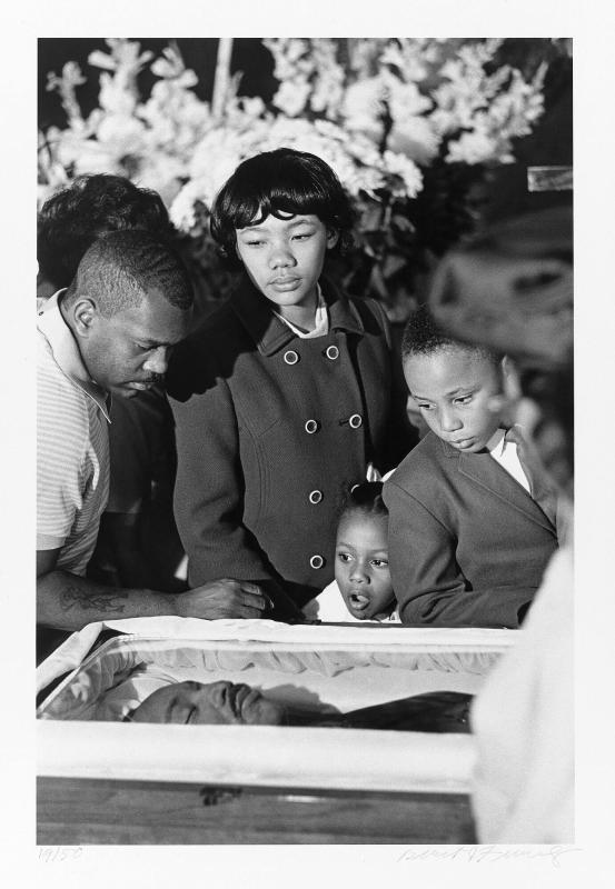 "Dr. Martin Luther King's children view his body lying in state, Sister's Chapel, Spellman College, Atlanta, April 6, 1968 (from ""Countdown to Eternity"")"
