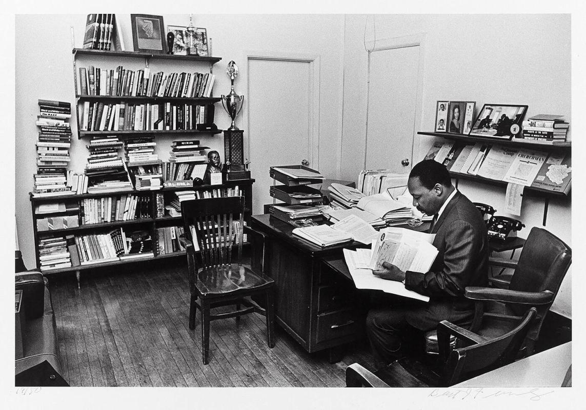 "Dr. Martin Luther King, Jr. in his office, Atlanta, Georgia, November, 1967 (from ""Countdown to Eternity"")"