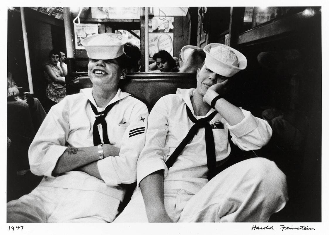 Two sailors on subway (from Decades Four)