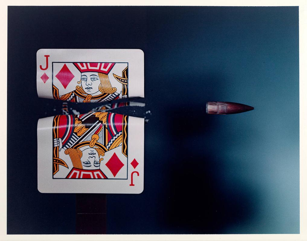 "Cutting the Card Quickly!, 1964 (from ""Ten Dye Transfer Photographs"")"