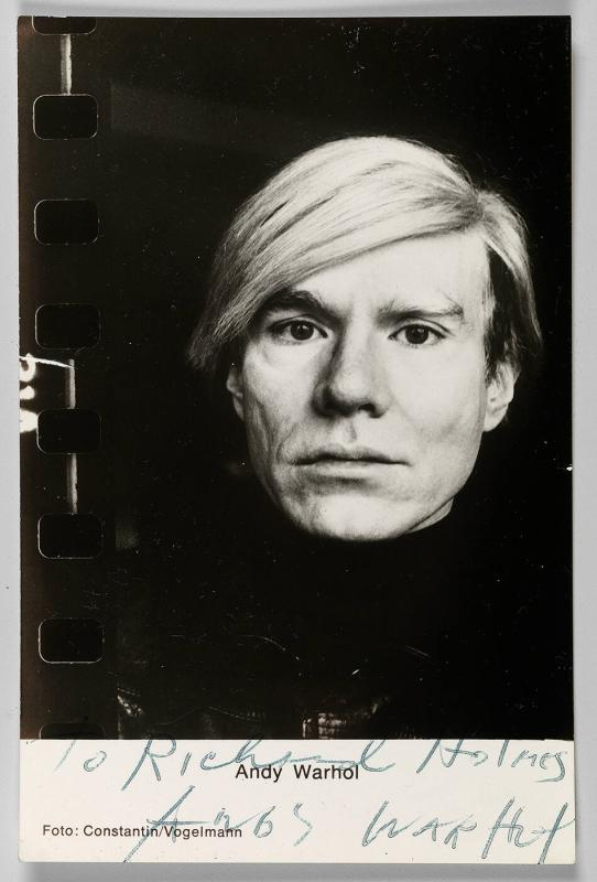 Autographed picture of Andy Warhol