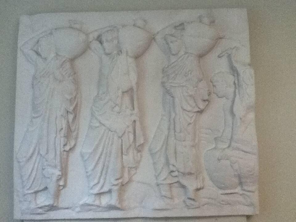 Cast of Frieze VI from the Elgin Marble Series, the Parthenon, Athens, Greece (Water bearers)