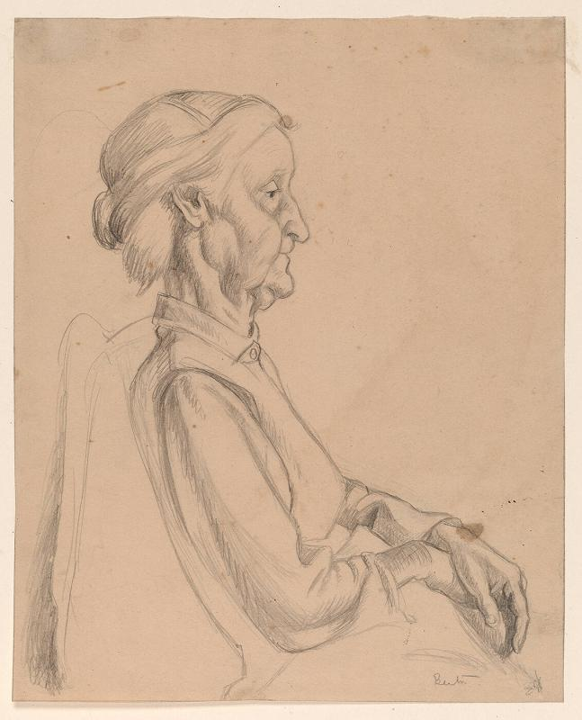Old Woman, Seated, Facing Right