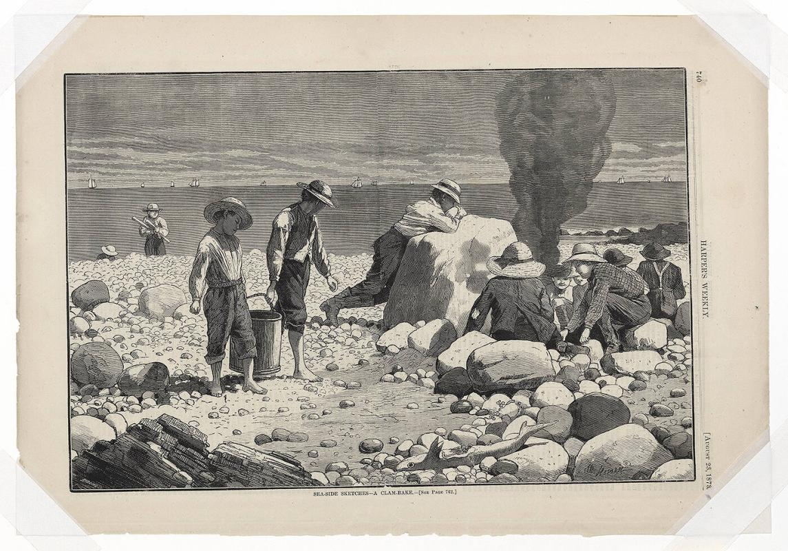 Seaside Sketches-- A Clambake, from Harper's Weekly