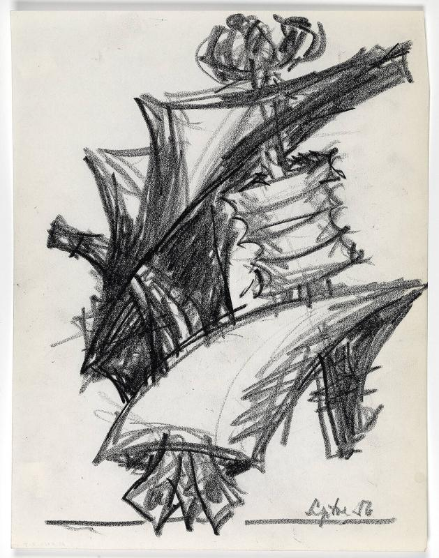 Untitled sketch of a sculpture