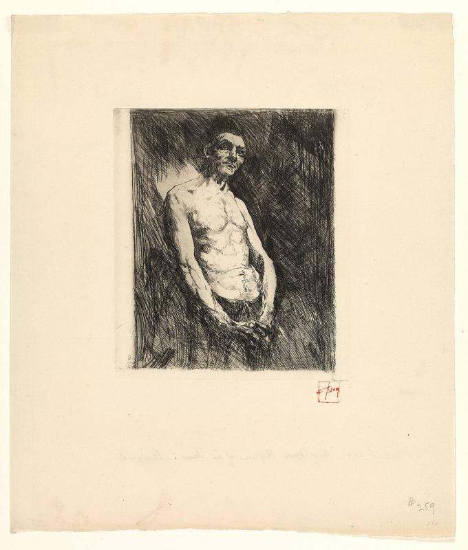 Half-nude Figure of a Man