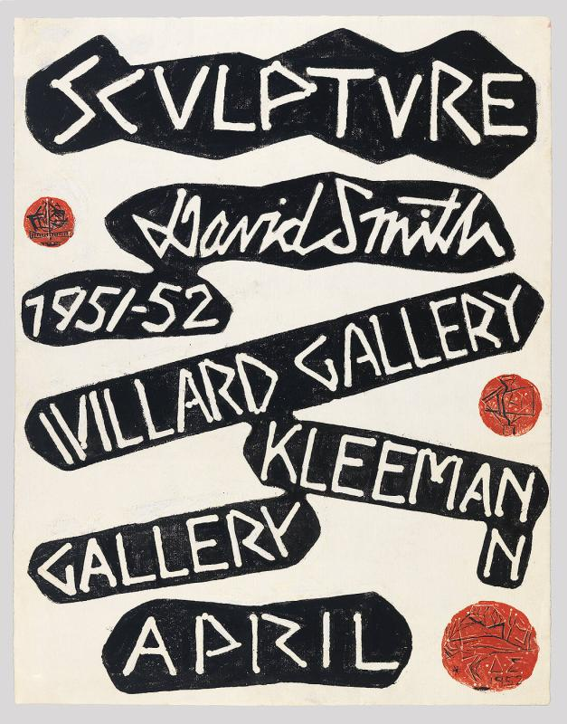 "Exhibition Poster for ""Sculpture of David Smith, Willard Gallery & Kleeman Gallery 1951-52"""