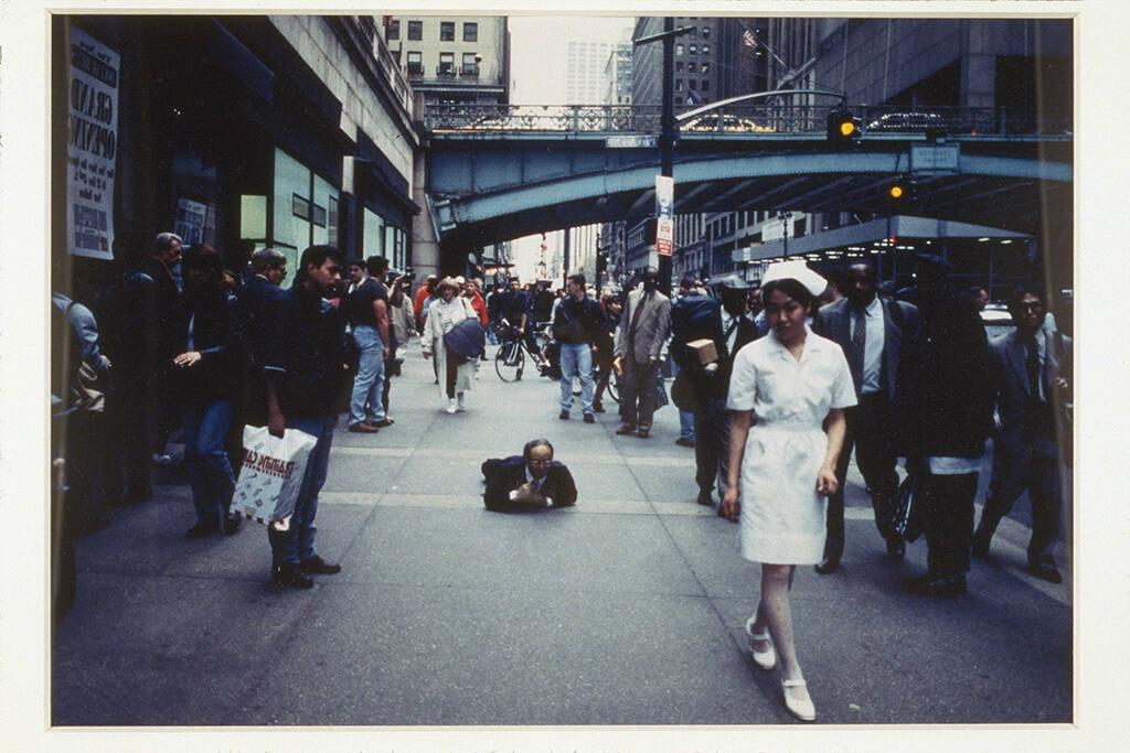 Miyata Jiro Performance Documentation, Wall Street, New York, 1997
