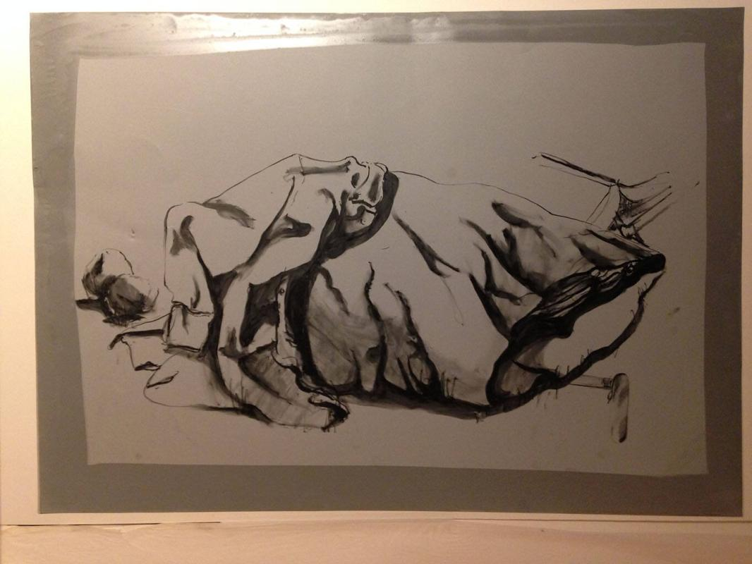 "Lithographic plate for ""Untitled"""